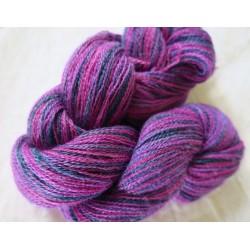 Écheveau alpaga et soie violet