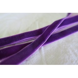 Ruban velours violet 10mm