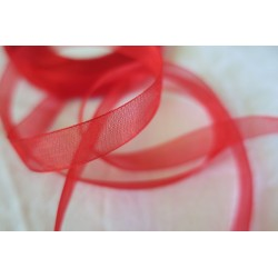 Ruban organza rouge 10mm