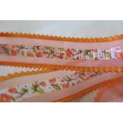 Ruban orange motif central...