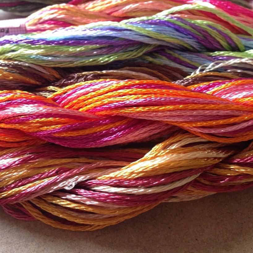 échevettes soie multicolore